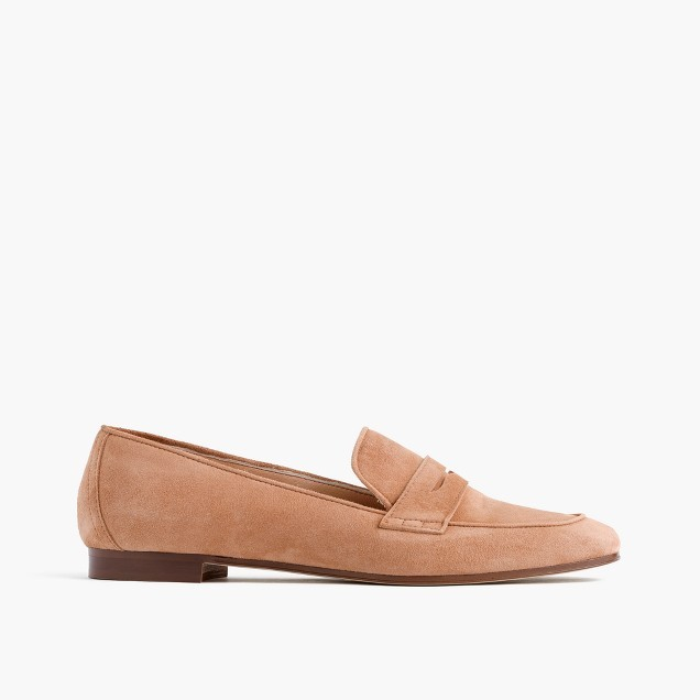 Charlie penny loafers in suede