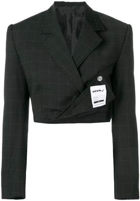 Seen Users cropped blazer