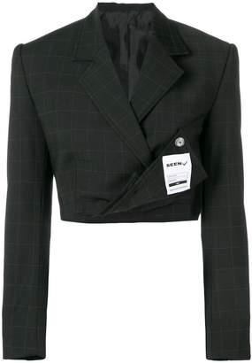 Seen cropped blazer
