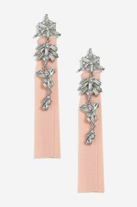 Topshop **Fabric Back and Crystal Drop Earrings