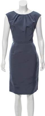 Lela Rose Silk & Wool Sleeveless Structured Dress
