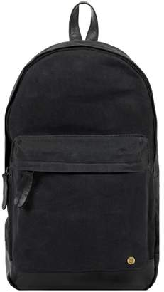 MAHI Leather - Leather & Canvas Classic Backpack In Black
