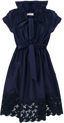 Lanvin lace trim dress