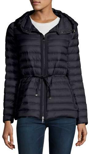Moncler Moncler Raie Hooded Down Jacket, Navy Blue