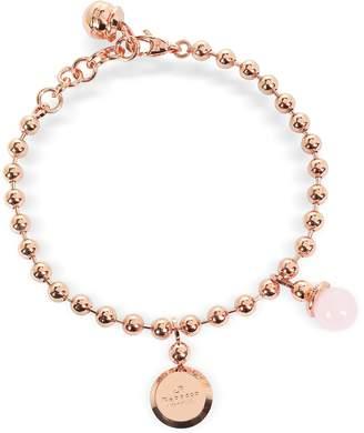 Rebecca Boulevard Stone Rose Gold Over Bronze Bracelet w/Hydrothermal Pink Stone
