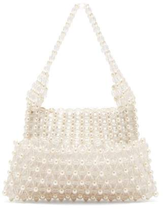 Shrimps - Quinn Faux Pearl Embellished Clutch - Womens - Cream
