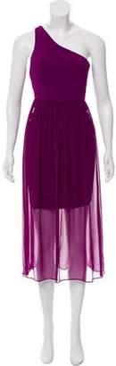 Alice + Olivia One-Shoulder Midi Dress