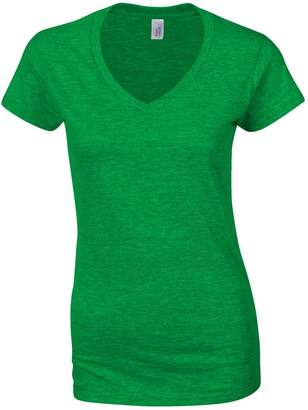 Gildan Ladies Soft Style Short Sleeve V-Neck T-Shirt (S)