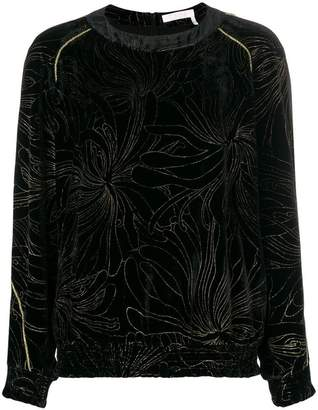Chloé embroidered floral blouse