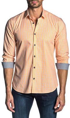 Jared Lang Men's Long-Sleeve Gingham Check Sport Shirt