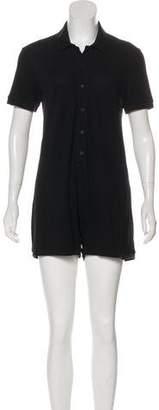 MM6 MAISON MARGIELA Short Sleeve Knit Romper