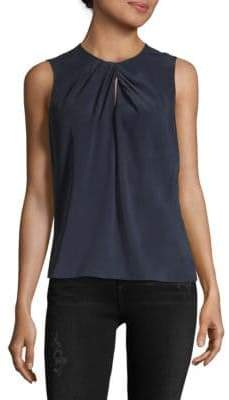 Rebecca Taylor Silk Sleeveless Knot Top