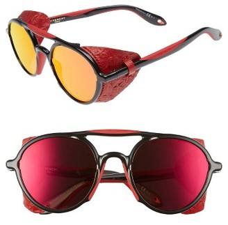 Women's Givenchy 50Mm Sunglasses - Black/ Red $405 thestylecure.com