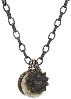 Miracle Icons Men's Vintage-Icon Chain Necklace - Silver
