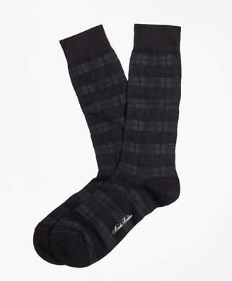 Brooks Brothers Black Watch Crew Socks