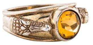 Kieselstein-Cord Citrine Alligator Cocktail Ring