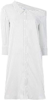 Dondup striped asymmetric shirt dress