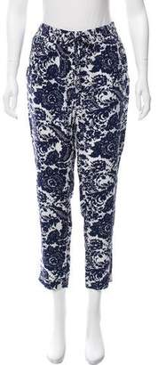 Intermix Mid-Rise Silk Pants