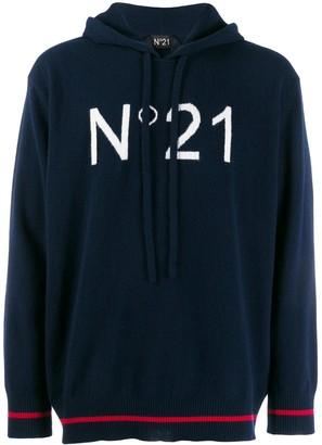 No.21 logo knitted jumper