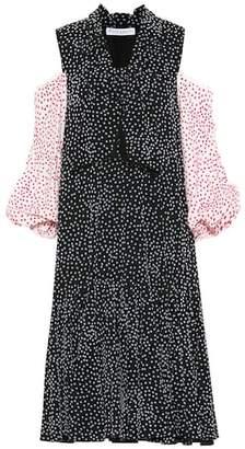 J.W.Anderson Flocked polka-dot dress