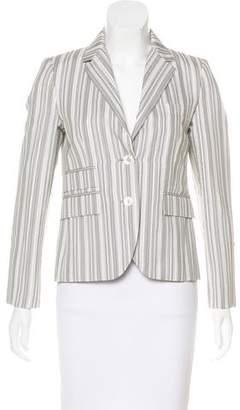 Black Fleece Striped Notch-Lapel Blazer