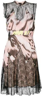 Just Cavalli printed keyhole dress