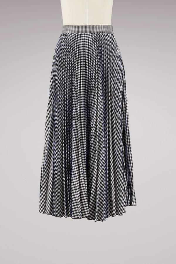 Msgm Sprinkle Pleated Long Skirt