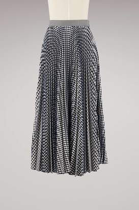 MSGM Sprinkled plisse long Skirt