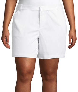 Boutique + + 7 Twill Shorts - Plus