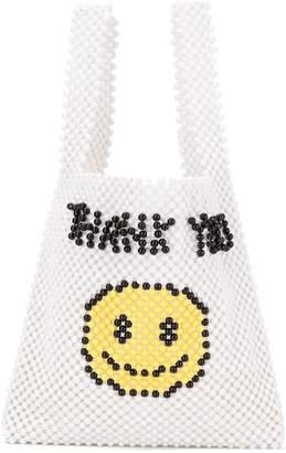 Ground Zero smiley face tote bag