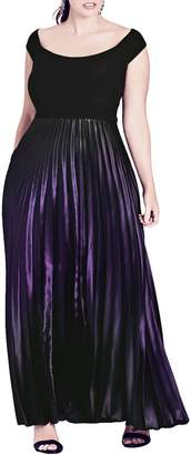 City Chic Passion Ombre Gown