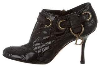 Christian Dior Quilted Round-Toe Booties