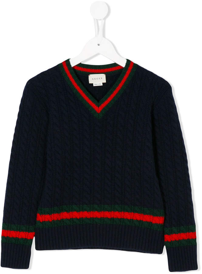 Gucci Kids Web trim jumper