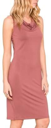 Mystree Jersey Cowl Dress