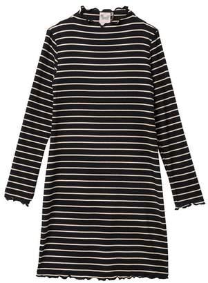 FOR ALL SEASONS Striped Long Sleeve Dress (Big Girls)