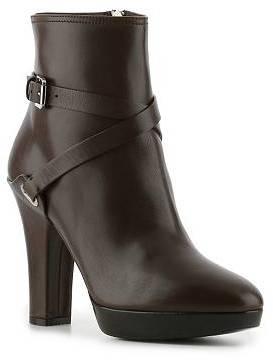 Ralph Lauren Atarah Leather Buckle Bootie