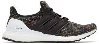 adidas Black and Multicolor UltraBoost Sneakers