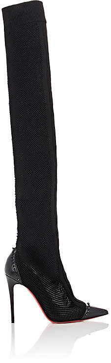 Christian Louboutin Women's Souricette Mesh Over-The-Knee Boots