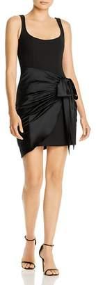 Cinq à Sept Waverly Silk-Overlay Mini Dress