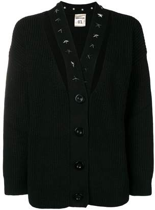 Semi-Couture Semicouture ribbed cut out cardigan