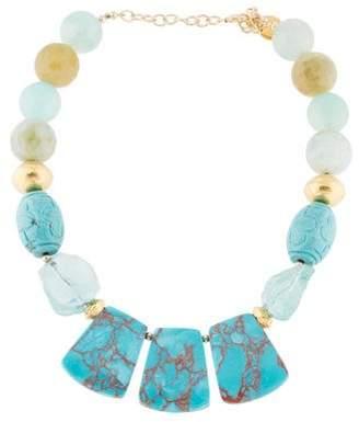 Devon Leigh Multistone Statement Collar Necklace