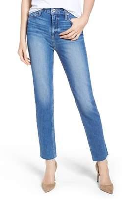 Paige Hoxton High Waist Slim Raw Hem Jeans