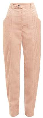 Isabel Marant Menie High Waisted Corduroy Trousers - Womens - Pink