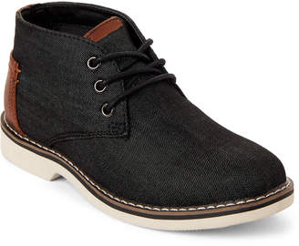Steve Madden Kids Boys) Black & Cognac Denim Chukka Boots