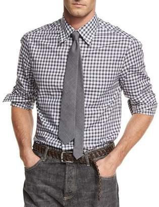 Brunello Cucinelli Check Cotton Oxford Shirt $495 thestylecure.com