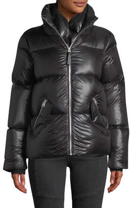 Mackage Mirri Lustrous Lightweight Down Crop Puffer Jacket