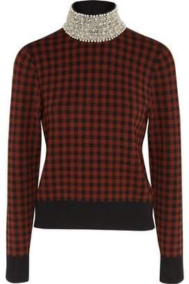 Ganni Loras Embellished Jacquard-Knit Turtleneck Sweater
