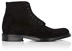 Saint Laurent Men's Army Suede Boots-Black