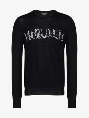 Alexander McQueen dancing skeleton crew-neck sweater