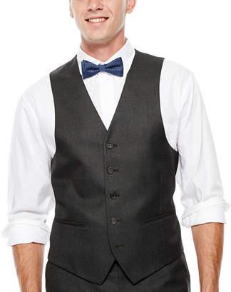 Izod Gray Sharkskin Suit Vest - Classic Fit